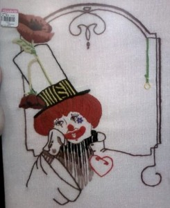 Needlepoint Clown