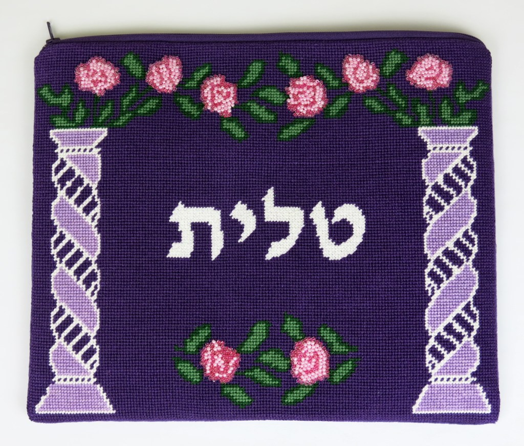 needlepoint-tallit-bag-bordeux-pillars